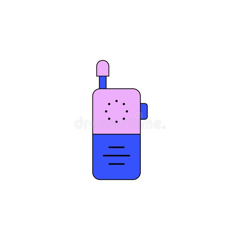 Farbige Ikone des Karikaturbaby-Telefons Spielzeug Zeichen und Symbole können für Netz, Logo, mobiler App, UI, UX verwendet werde lizenzfreie abbildung