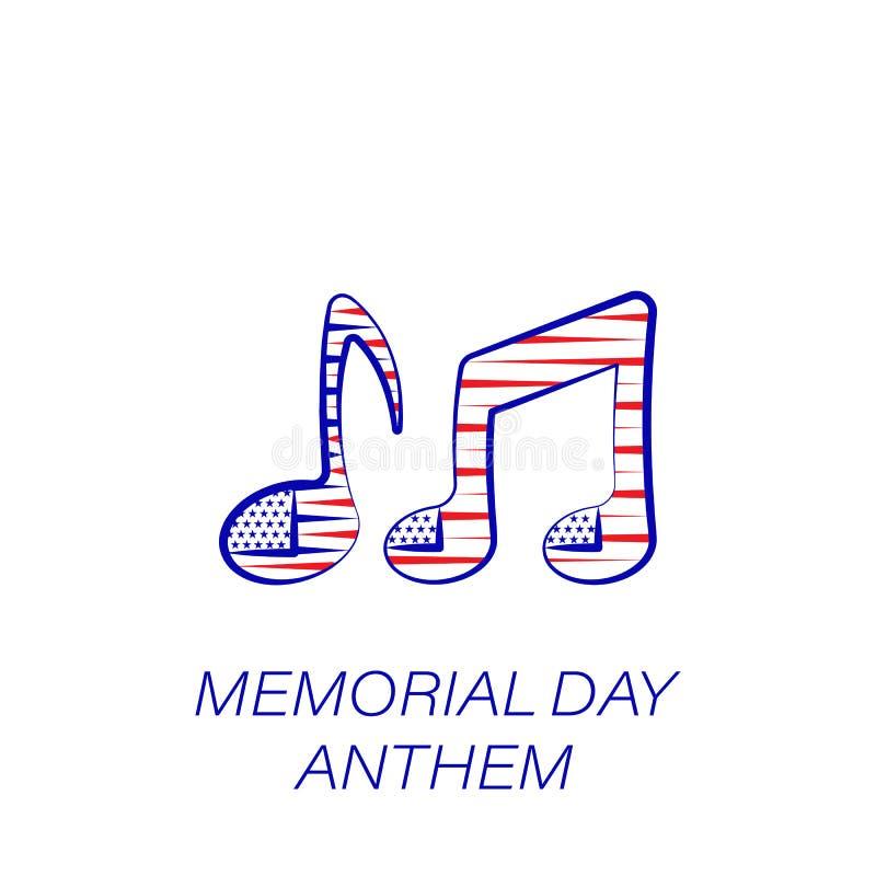 Farbige Ikone des Volkstrauertags Hymne Element der Volkstrauertagillustrationsikone Zeichen und Symbole können für Netz, Logo, M stock abbildung