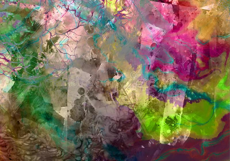 Farbige künstlerische Beckground-Grunge-Kunst stockbilder