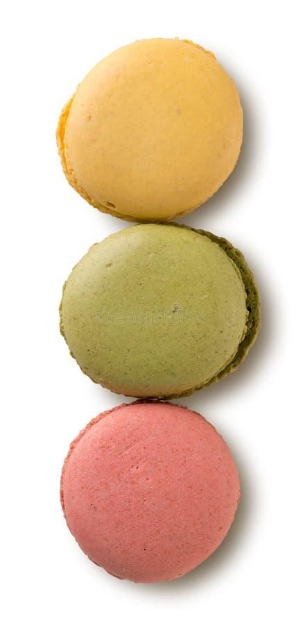 Download Farbige Karamell macarons stockfoto. Bild von makronen - 90231178