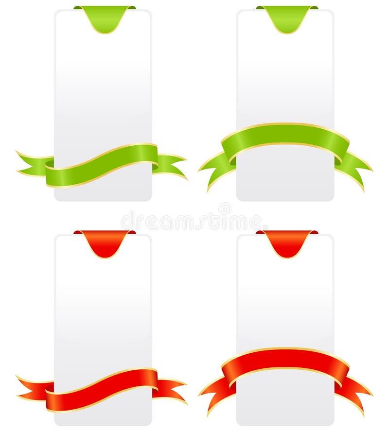 Farbige Kennsätze vektor abbildung