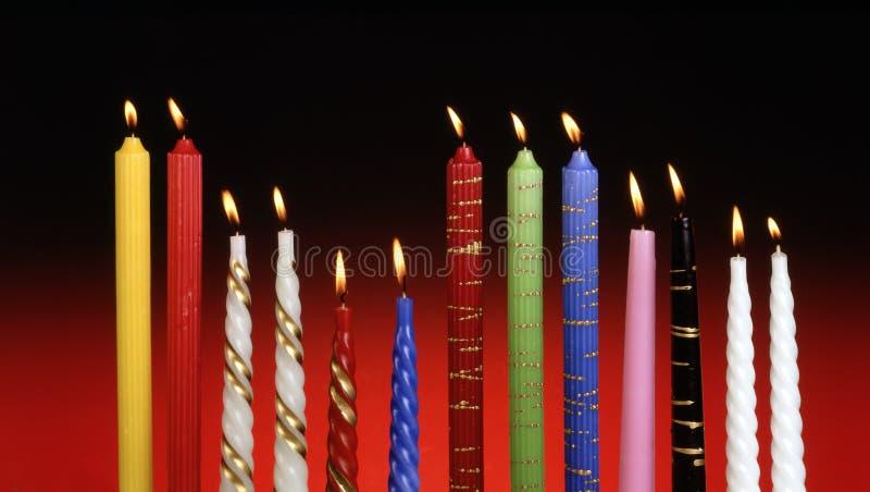 Farbige Kerzen lizenzfreies stockbild