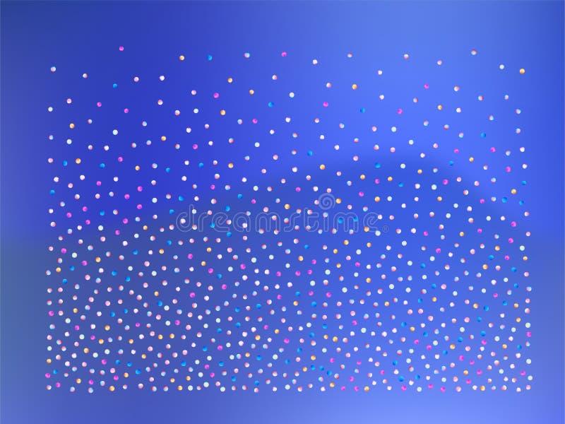 Farbige Konfettibälle, Tapete vektor abbildung