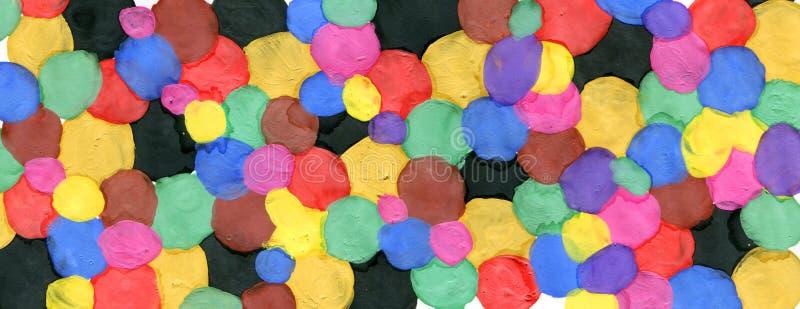 Farbige Kreise gemacht mit Farbe lizenzfreie abbildung