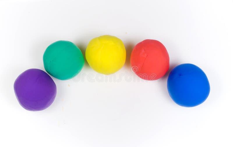 Farbige Kugeln des Lehms lizenzfreies stockbild