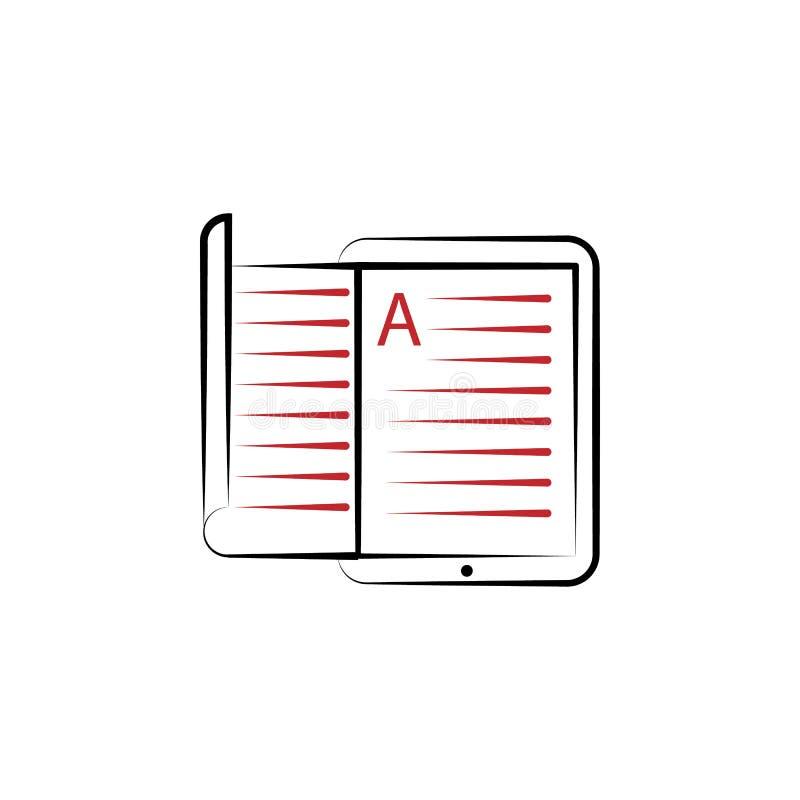 farbige Linie Ikone e-Bücher 2 Einfache Illustration des farbigen Elements e-Buchentwurfs-Symbolentwurf von edecutaion Satz vektor abbildung