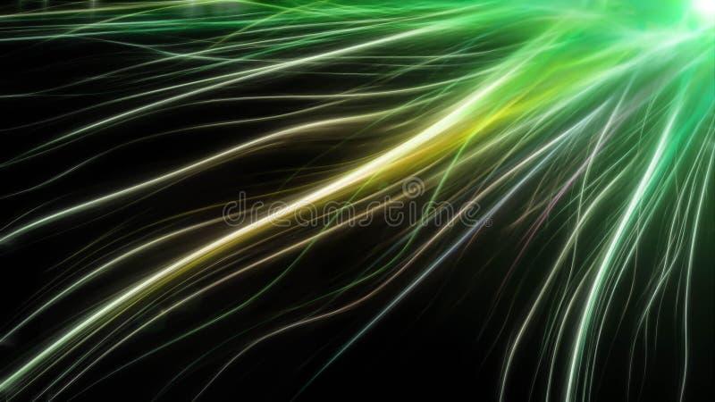 Farbige Linien der abstrakten langen Energie stockbild