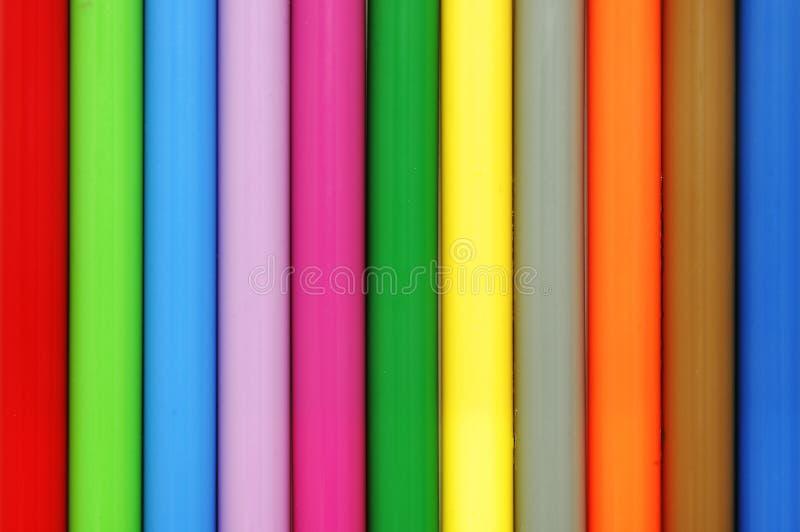 Farbige Markierungen stockfotos
