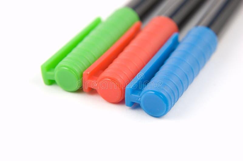 Download Farbige Markierungs-Federn 1 Stockfoto - Bild von markierung, grün: 12202500