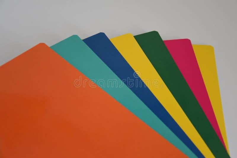 Farbige Notizbücher stockfotografie