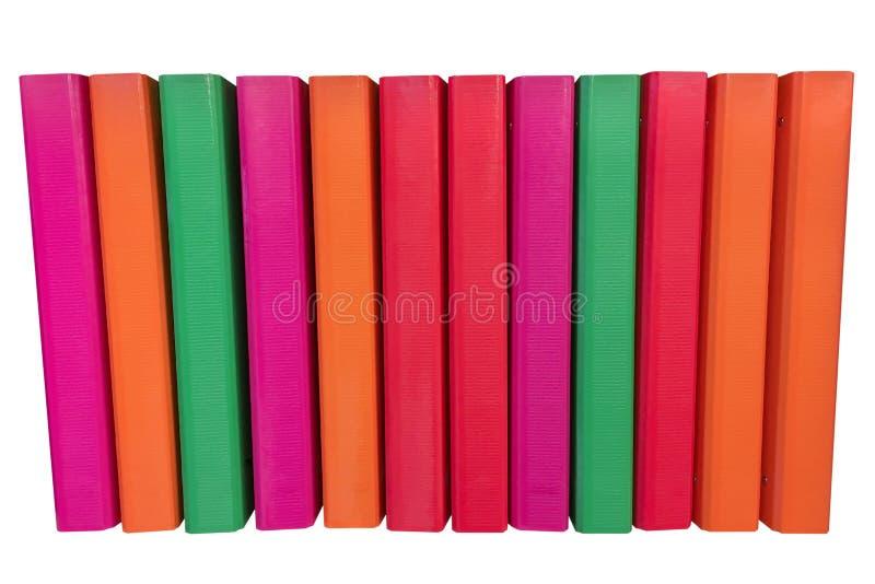 Farbige Ordner für die Papiere lokalisiert auf einem weißen Hintergrund lizenzfreies stockbild