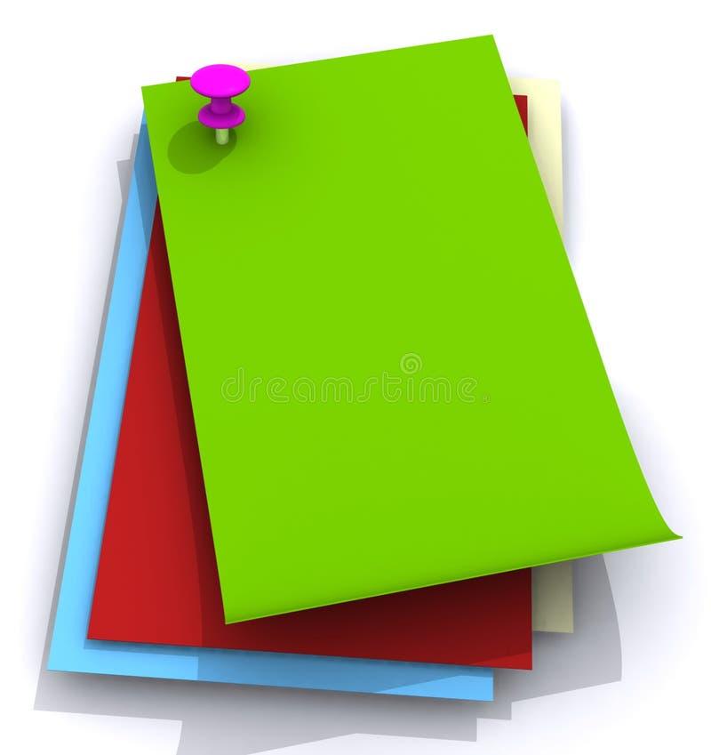 Farbige Papiere lizenzfreie abbildung