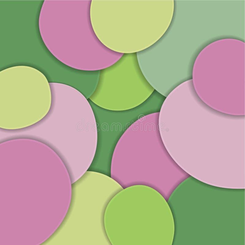 Farbige Papierwellen, 3D Zusammenfassung, geometrische Hintergrundbeschaffenheitsschichten Tiefe in den grünen Abstufungen, gelb, vektor abbildung