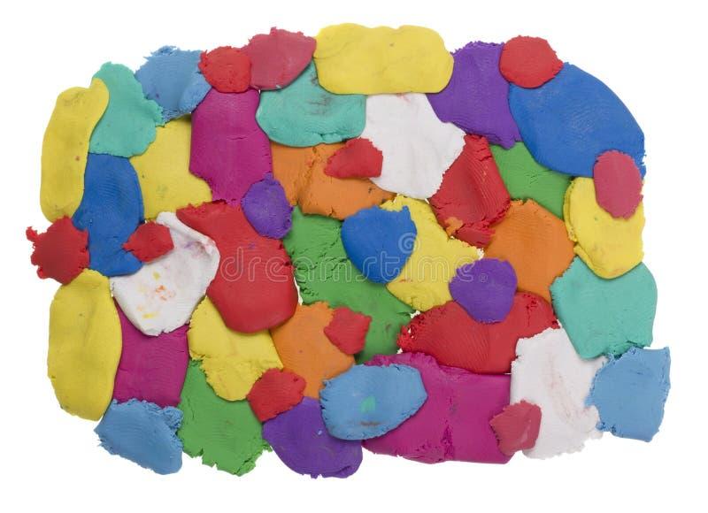 Farbige Plastikflecke stockbild