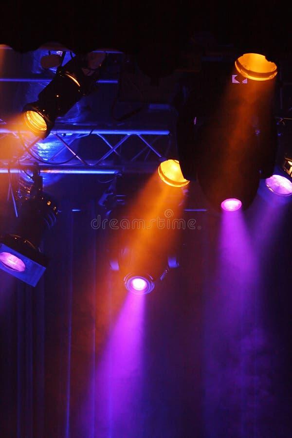 Farbige Projektoren lizenzfreie stockfotos