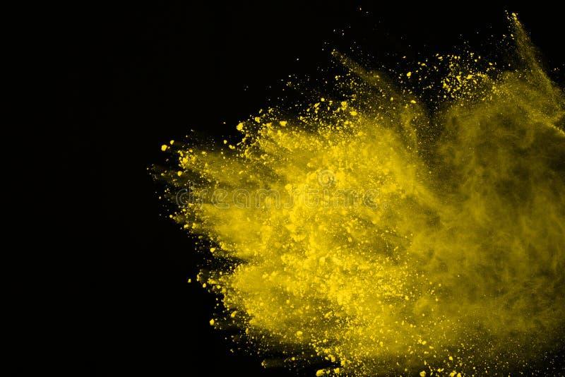 Farbige Pulverexplosion Colore-Staub splatted lizenzfreie stockfotografie
