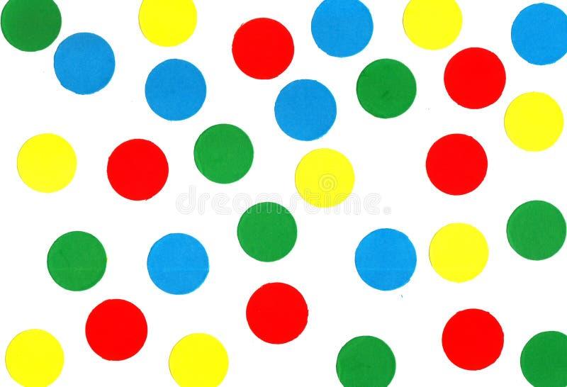 Farbige Punkte stockbild. Bild von weiß, beschaffenheit - 7175905