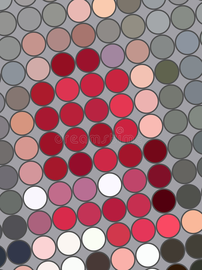 Farbige Punkte auf Grau vektor abbildung