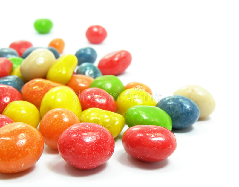 Farbige süße Süßigkeiten stockbilder