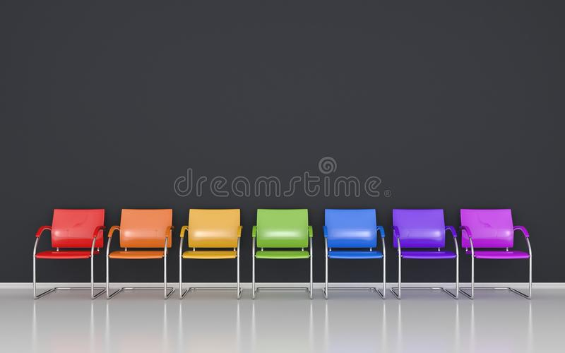 Farbige Schemel stock abbildung