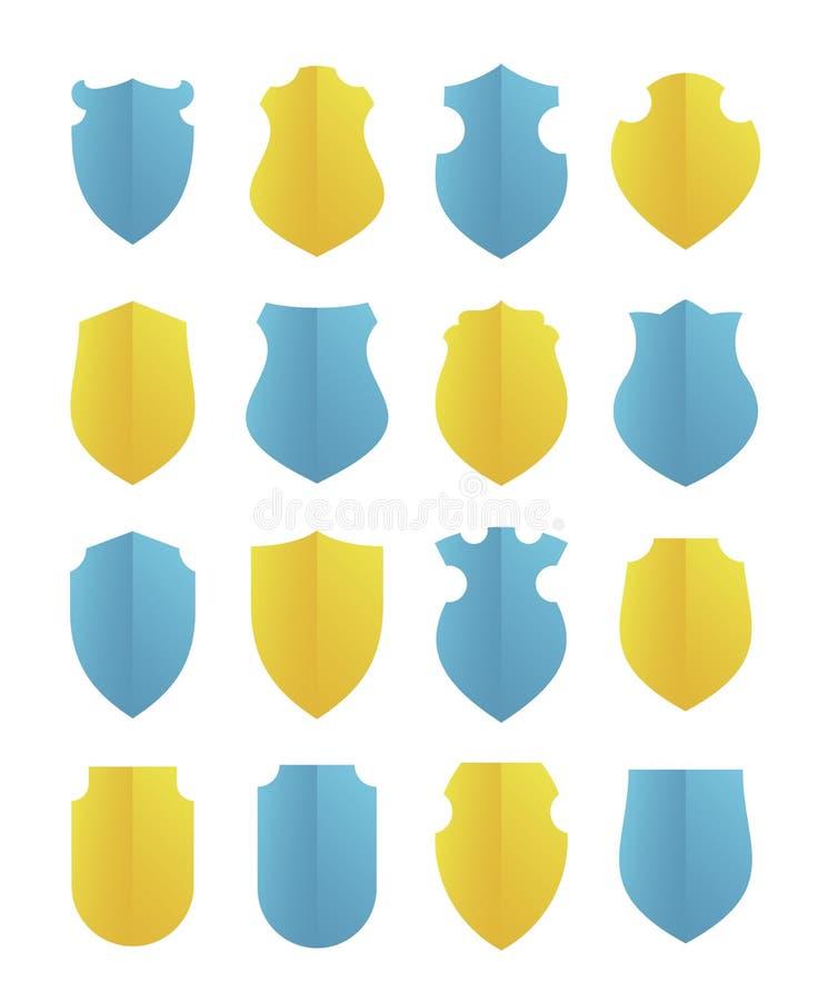 Farbige Schilder eingestellt vektor abbildung