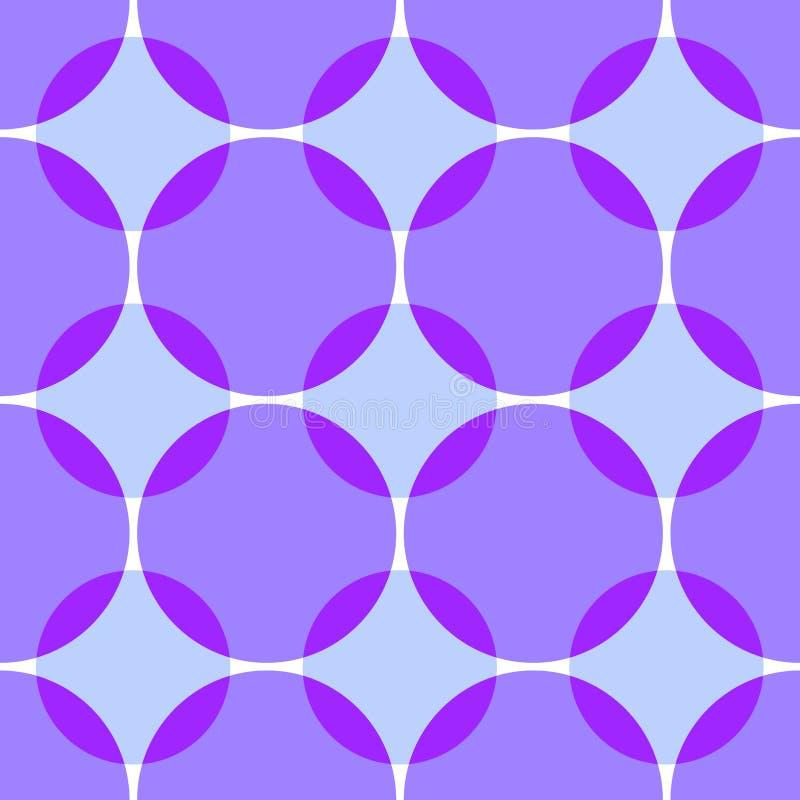 Farbige schneidene Kreise nahtlos lizenzfreie abbildung