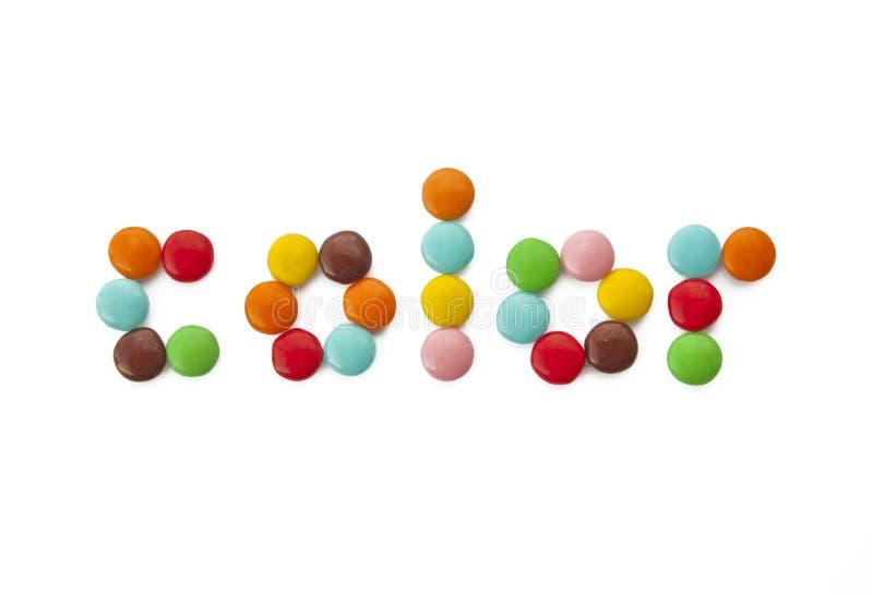 Farbige Schokoladensüßigkeit - saftige politra Farben lizenzfreie stockfotografie