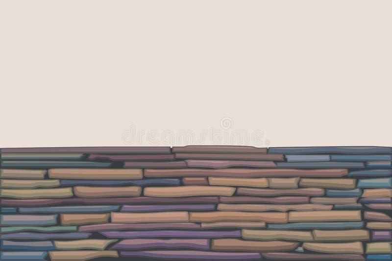 Farbige Steinwand lizenzfreie abbildung