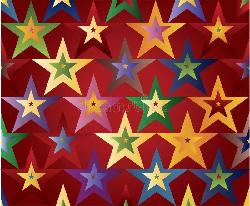 Farbige Sterne lizenzfreie abbildung