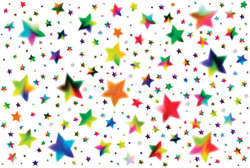 Farbige Sterne vektor abbildung