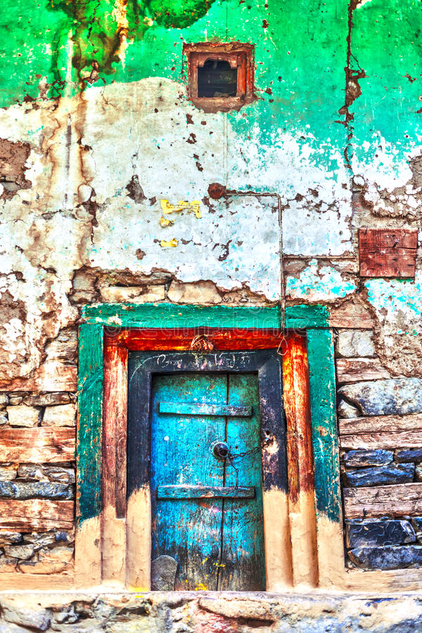 Farbige Tür lizenzfreie stockfotografie