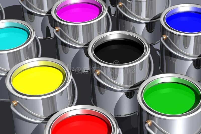Farbige Tinten (3D) lizenzfreie abbildung