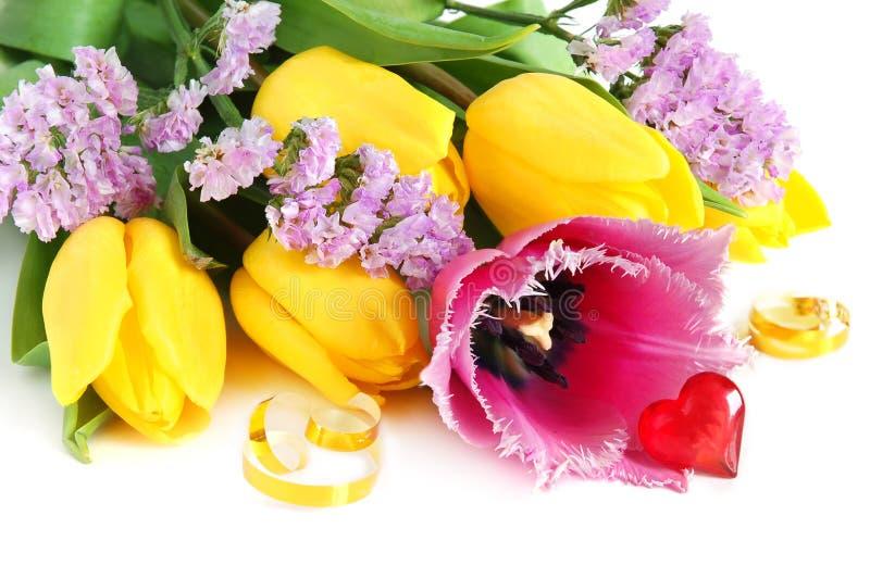 Farbige Tulpen stockfoto
