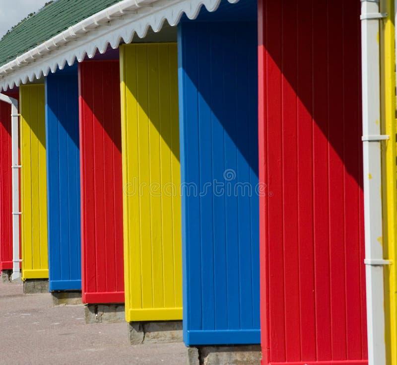 Farbige Umkleideräume stockfotografie