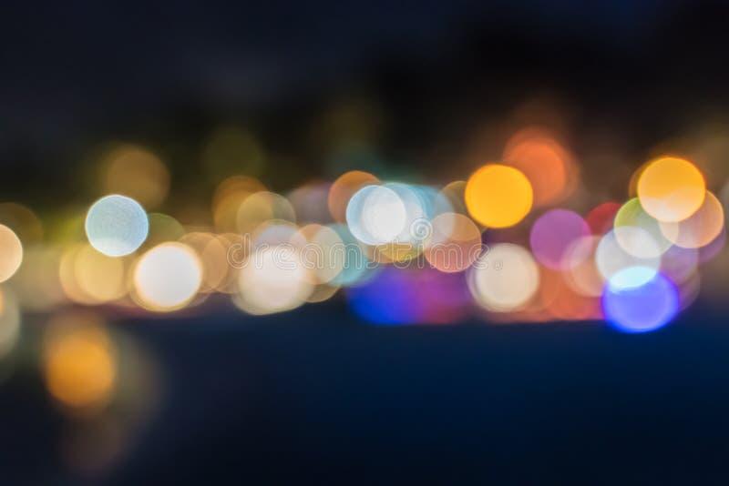 Farbige unfocused Lichter lizenzfreie stockfotos