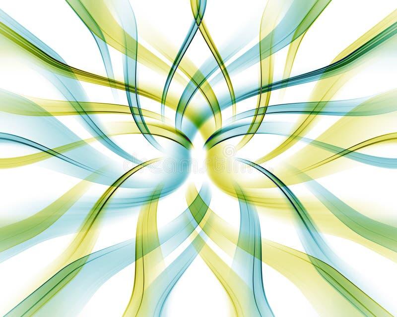 Farbige verdrehte Wellen. vektor abbildung