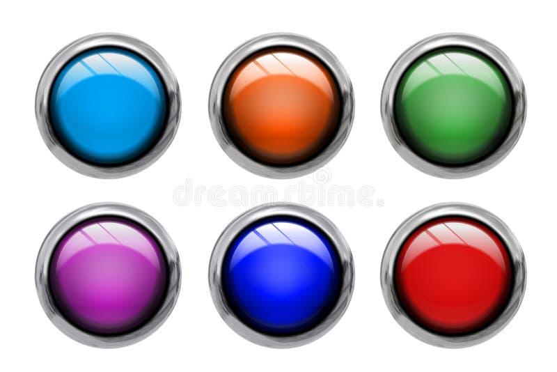 Farbige Vorderansicht der Tasten vektor abbildung