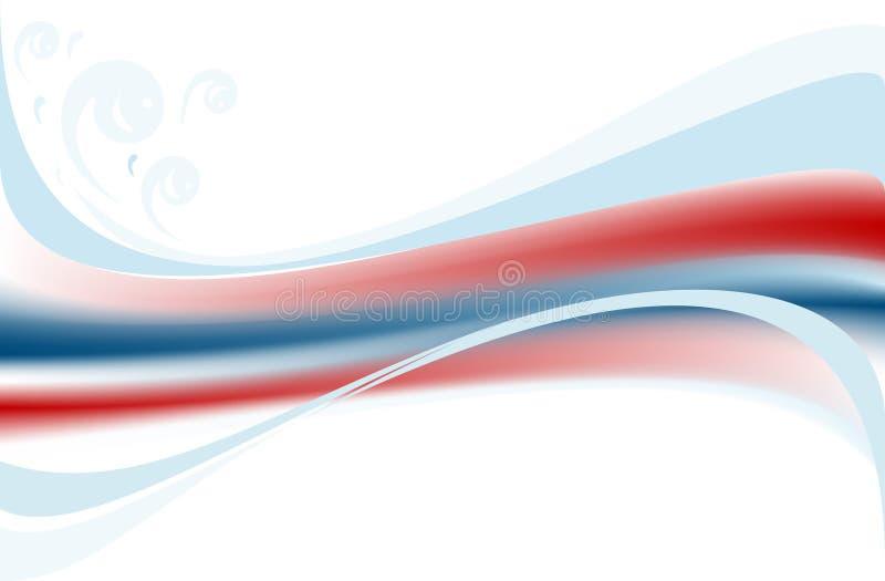 Farbige Welle auf weißem Hintergrund. Fahne. lizenzfreies stockfoto