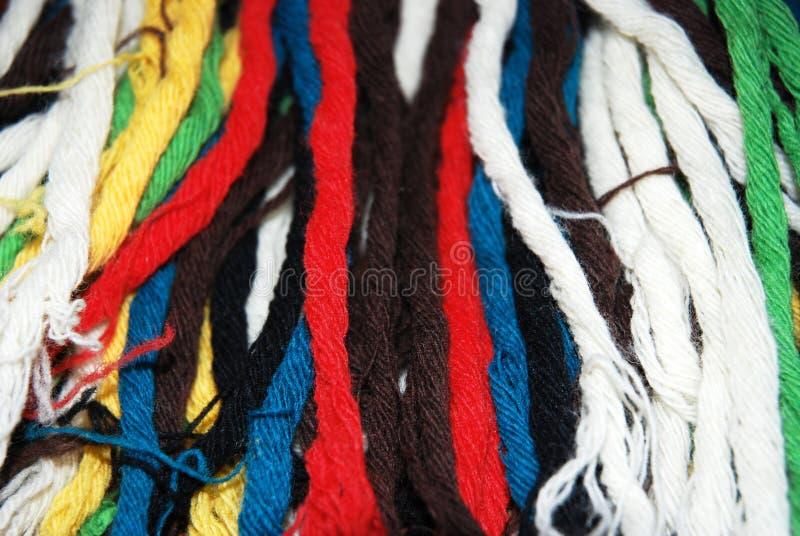 Farbige Wollebeschaffenheit lizenzfreie stockfotos