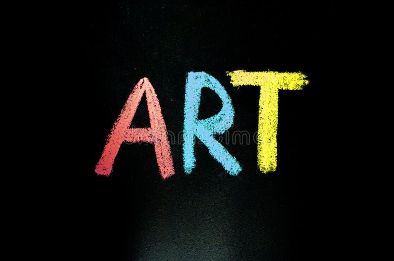 Farbige Wortkunst auf Tafel stock abbildung