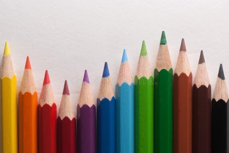 Farbige Zeichenstifte lizenzfreie stockbilder