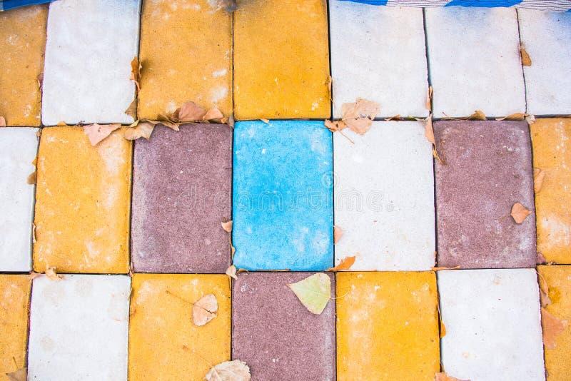 Farbige Ziegelsteinbeschaffenheit lizenzfreies stockfoto