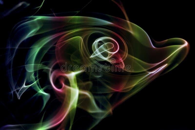 Farbiger abstrakter Rauch stockbilder
