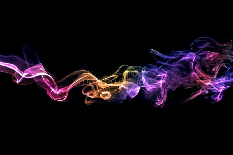 Farbiger abstrakter Rauch stockfoto