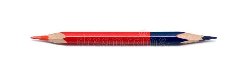 Farbiger Bleistift, doppelseitig lizenzfreies stockfoto