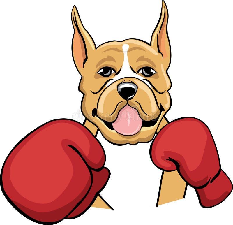 Farbiger boxender Boxer stock abbildung
