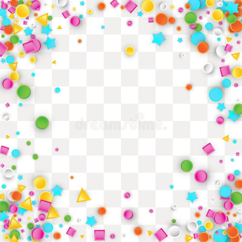 Farbiger carnaval Konfettihintergrund stock abbildung