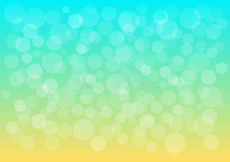 Farbiger dekorativer abstrakter Hintergrund des Sommers Vektor lizenzfreie abbildung