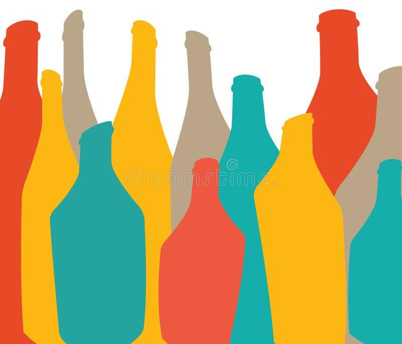 Farbiger hintergrund mit flaschen alkohol vektor abbildung for Alkohol dekoration