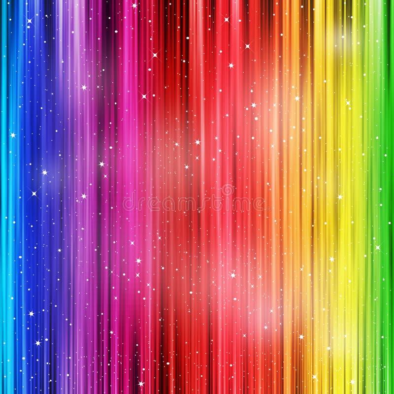 Farbiger Hintergrund mit stardust lizenzfreie abbildung